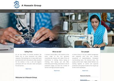 Professional Web Design and Development Project by Revelation BD for A Hossain Group
