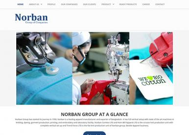 Professional Web Design and Development Project by Revelation BD for NORBAN Group
