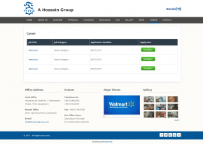Dynamic Career Page - Professional Web Design and Development Project by Revelation BD for A Hossain Group