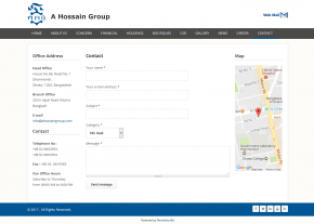 Dynamic Contact page - Professional Web Design and Development Project by Revelation BD for A Hossain Group