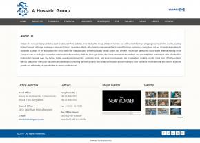 About Page - Professional Web Design and Development Project by Revelation BD for A Hossain Group