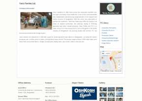 Company Page - Professional Web Design and Development Project by Revelation BD for A Hossain Group