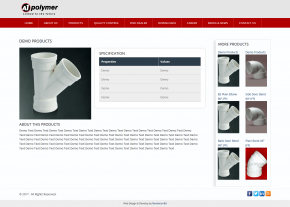 Dynamic Product Page - Professional Web Design and Development Project by Revelation BD for A1 Polymer - A Anwar Group Company