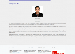About Us Page - Professional Web Design and Development Project by Revelation BD for EUROZONE GROUP