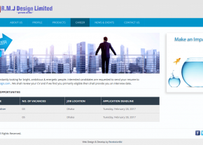 Career Page - Professional Buying House Company Web Design and Development Project by Revelation BD for RMJ Design