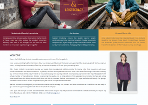 Home Page Design - Professional Buying House Company Web Design and Development Project by Revelation BD for RMJ Design