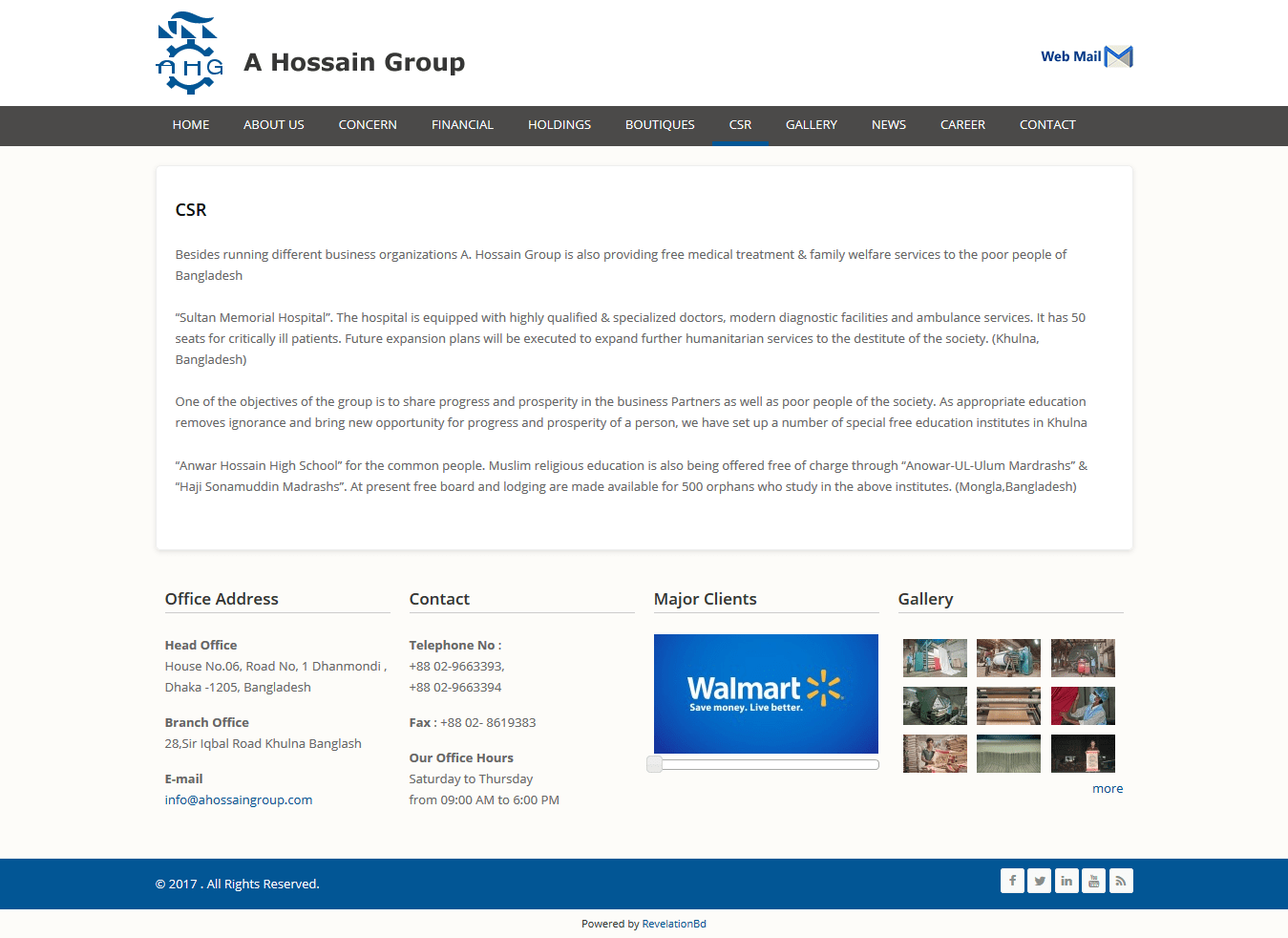 Best Web Design and Development for Group Of Company by Revelation