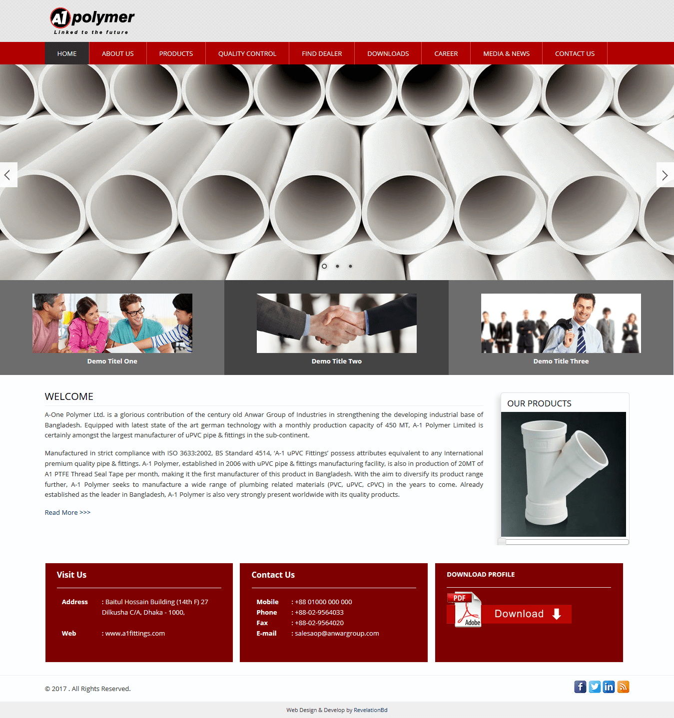Best Polymer Company Web Design and Development by