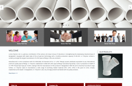 Dynamic Home Page Design - Professional Web Design and Development Project by Revelation BD for A1 Polymer - A Anwar Group Company